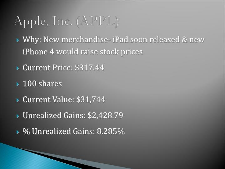 Apple, Inc. (APPL)