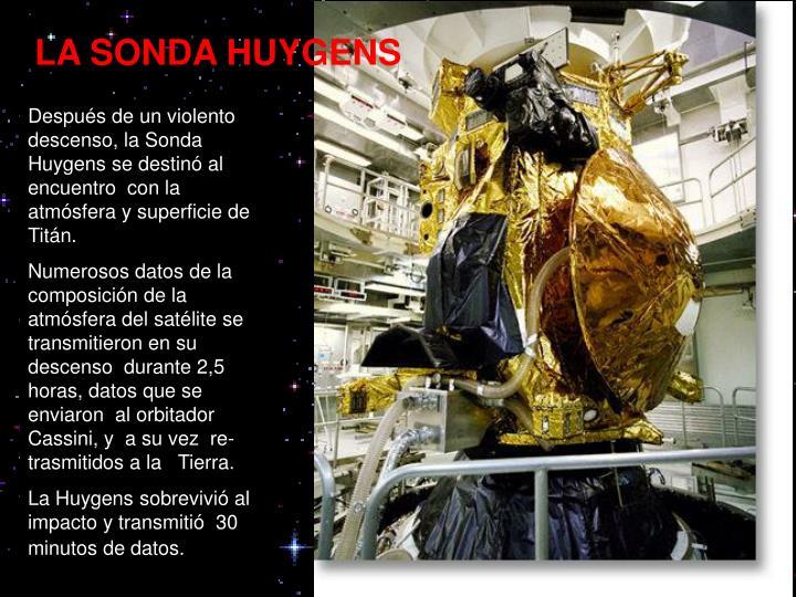 LA SONDA HUYGENS
