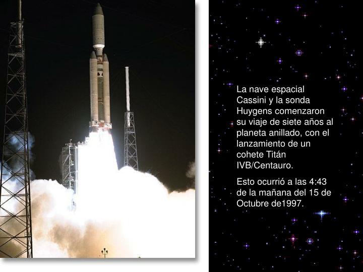 La nave espacial  Cassini y