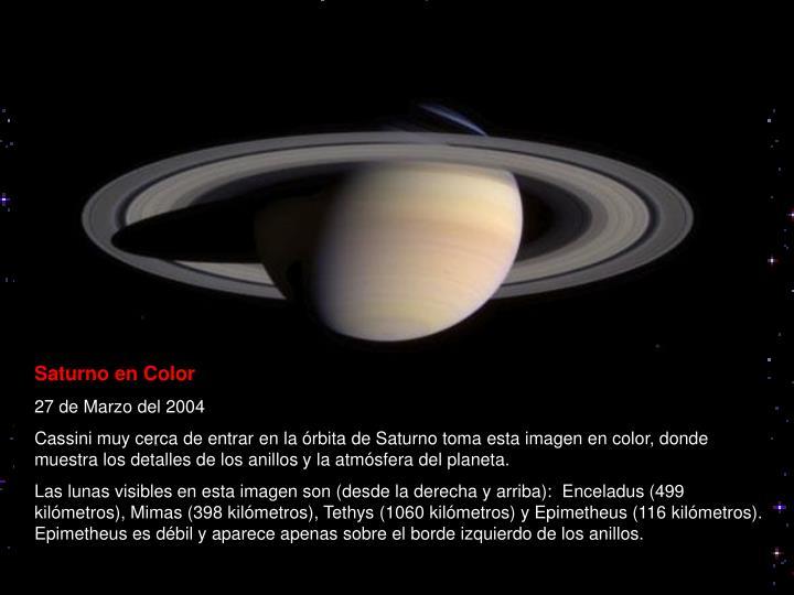 Saturno en Color