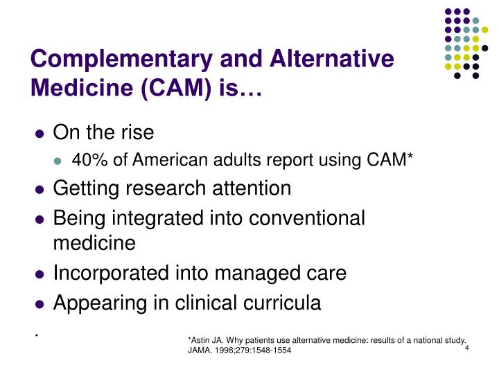 complementary and alternative medicine research paper