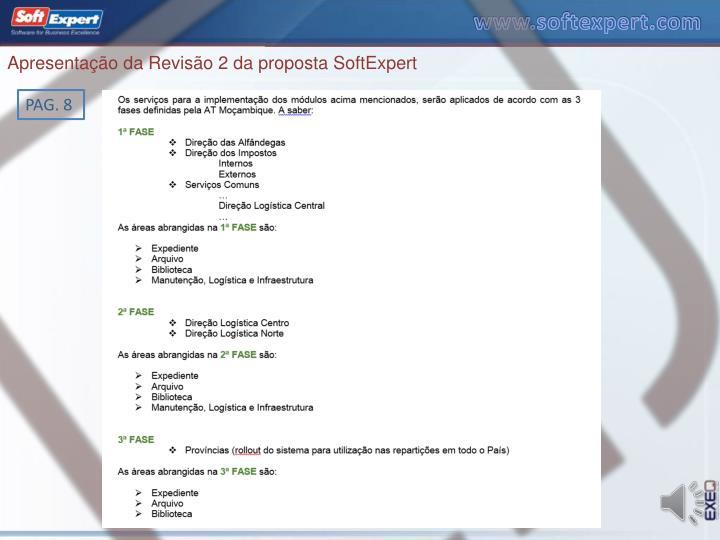 Apresentação da Revisão 2 da proposta SoftExpert