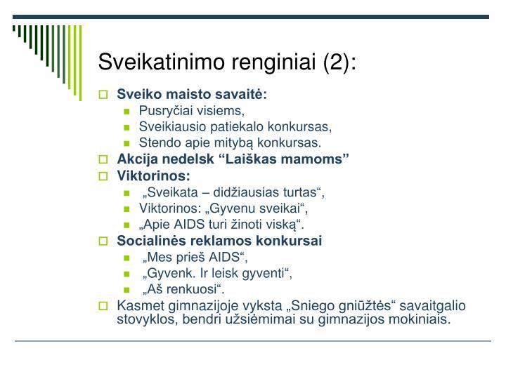 Sveikatinimo renginiai (2):