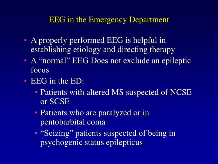 EEG in the Emergency Department
