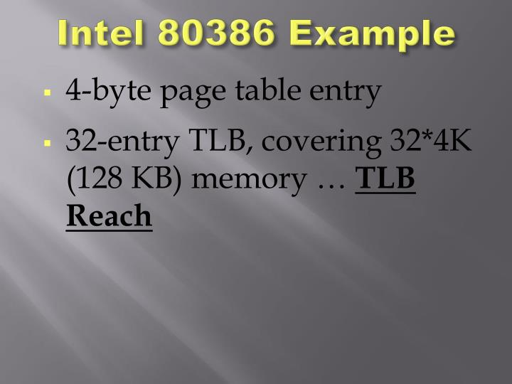 Intel 80386 Example