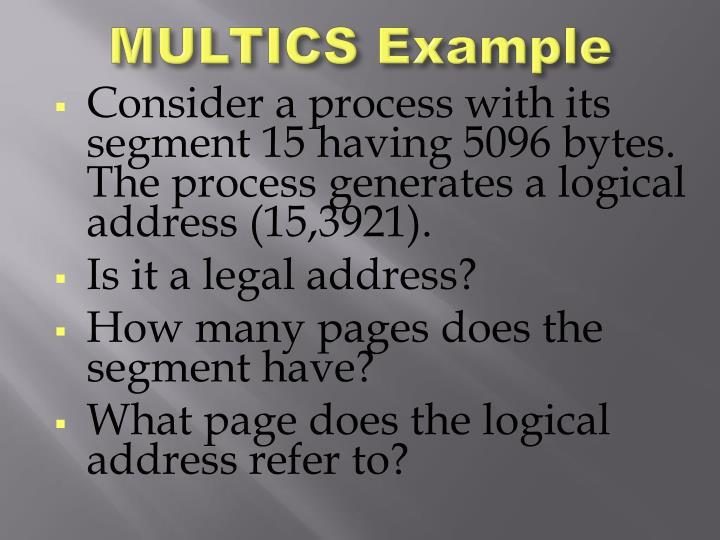 MULTICS Example
