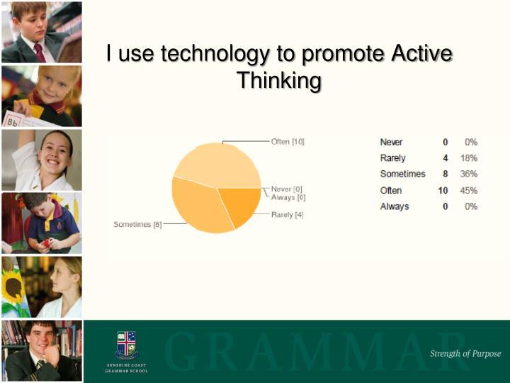 I use technology to promote Active Thinking