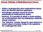 atomic orbitals of multi electrnon atoms