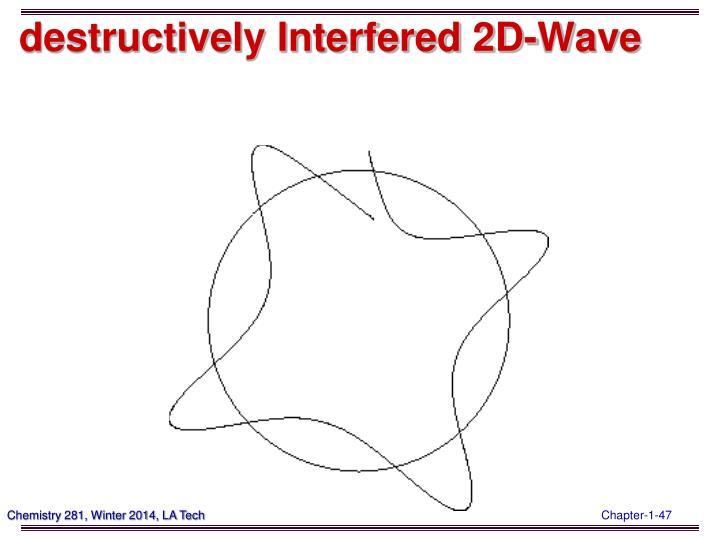 destructively Interfered 2D-Wave