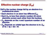 effective nuclear charge z eff