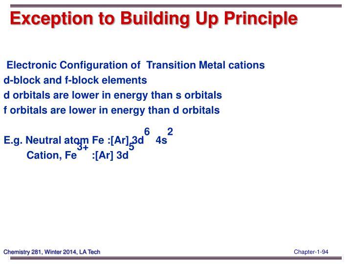 Exception to Building Up Principle