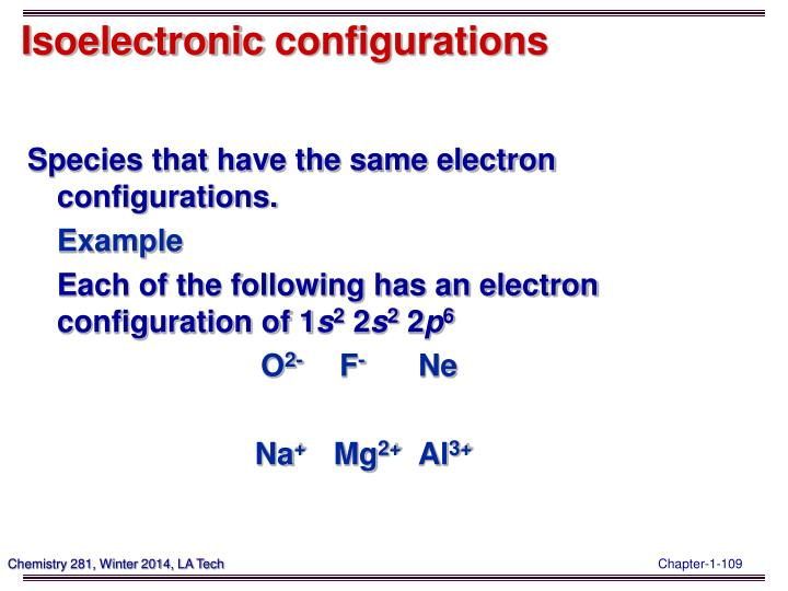 Isoelectronic