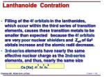 lanthanoide contration
