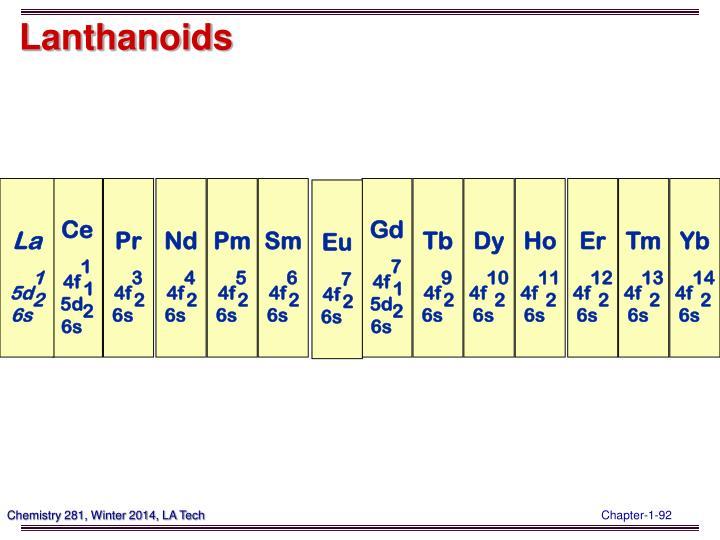 Lanthanoids