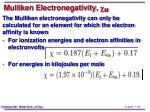 mulliken electronegativity c m