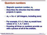 quantum numbers1