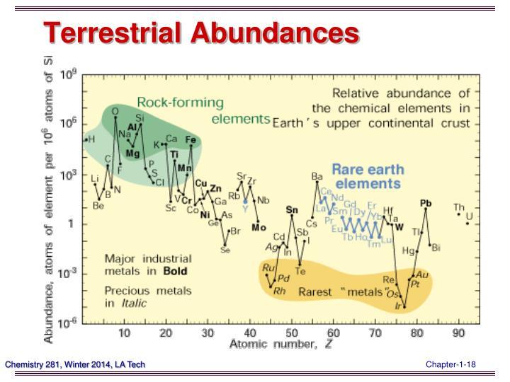 Terrestrial Abundances