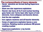 the nucleosynthesis of heavy elements