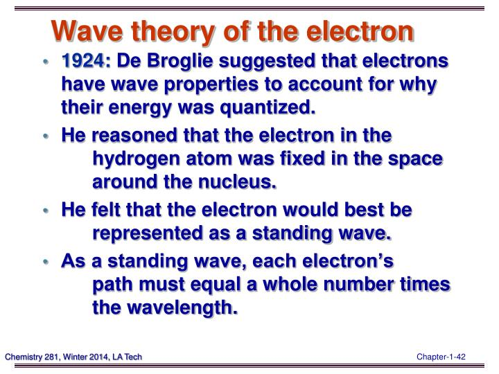 Wave theory of the electron