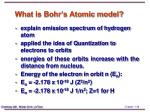 what is bohr s atomic model