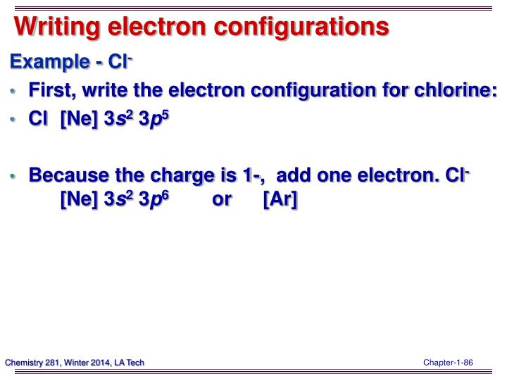 Writing electron configurations