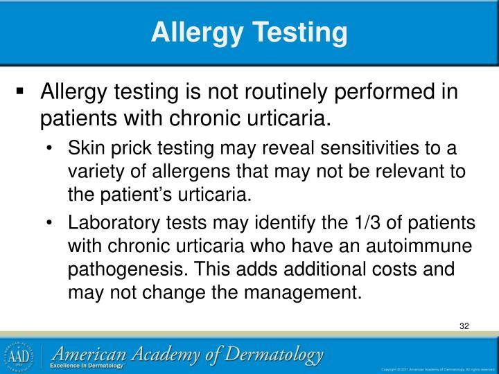 Allergy Testing