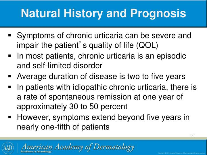 Natural History and Prognosis