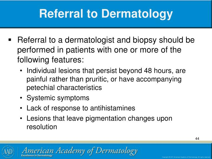 Referral to Dermatology