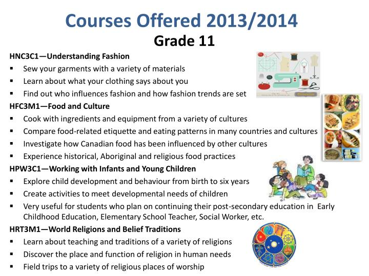 Courses offered 2013 20141
