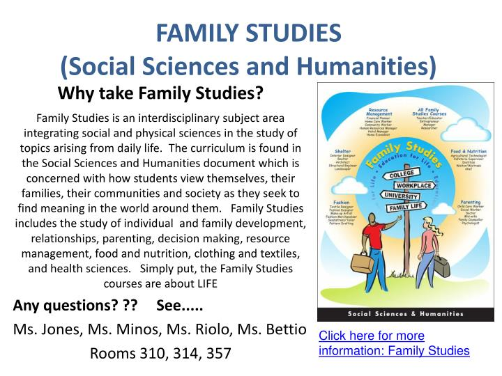 Family studies social sciences and humanities