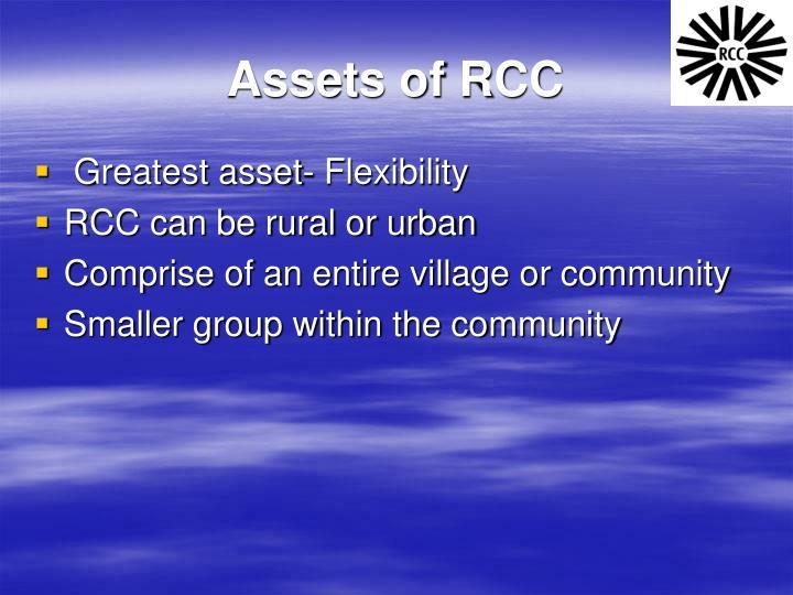 Assets of RCC