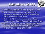 brief history of rcc