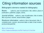 citing information sources1