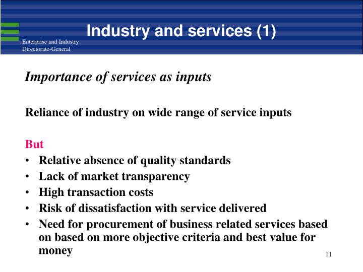 Industry and services (1)