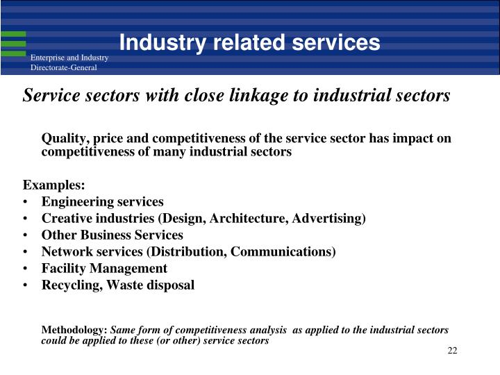 Industry related services