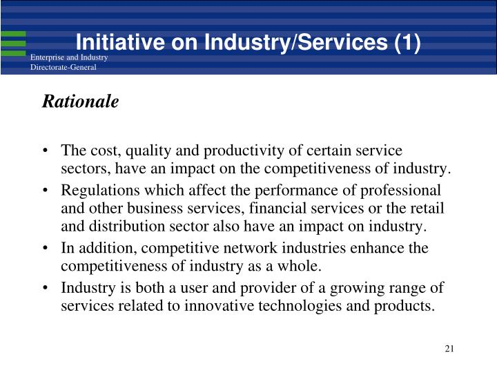Initiative on Industry/Services (1)
