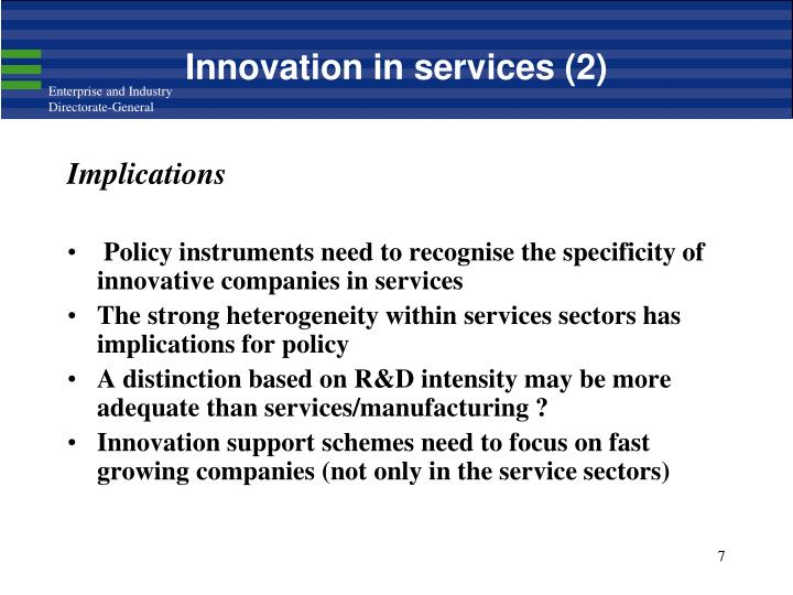 Innovation in services (2)