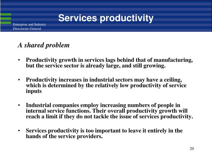Services productivity