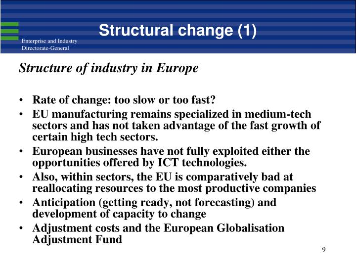 Structural change (1)