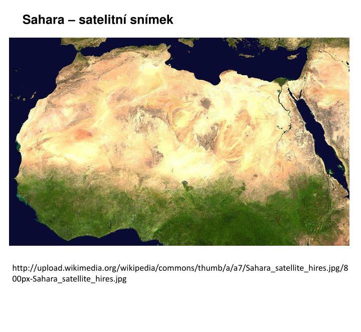 Sahara – satelitní snímek