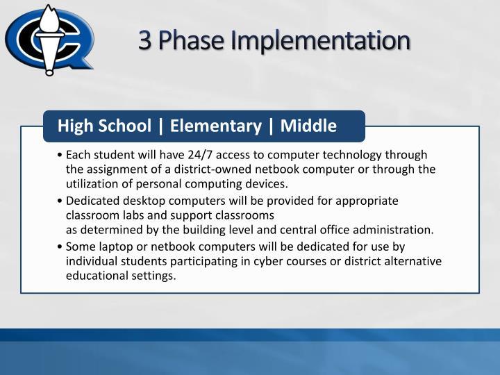 3 Phase Implementation