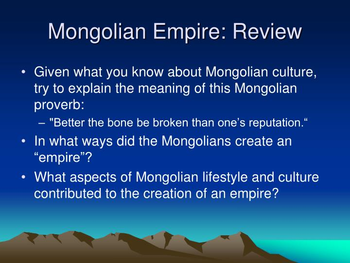 Mongolian Empire: Review