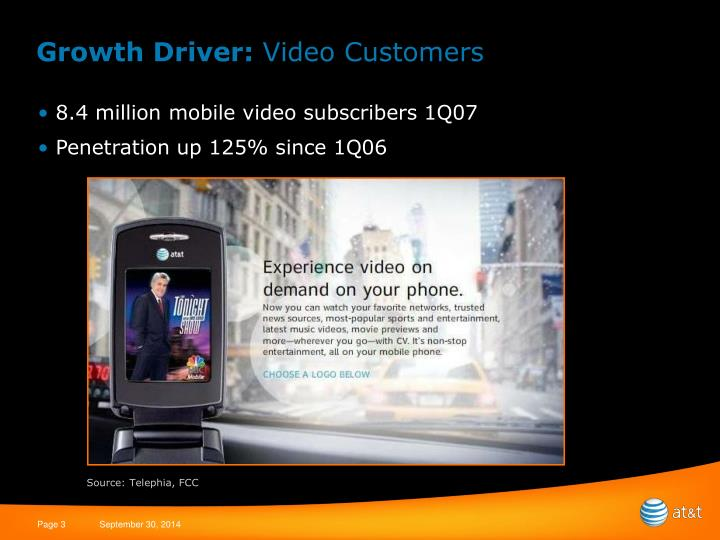 Growth driver video customers