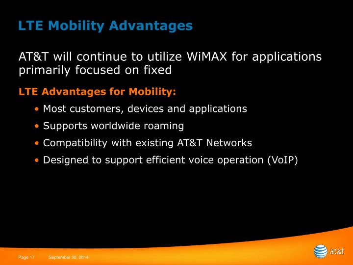 LTE Mobility Advantages