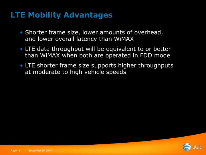 LTE Mobility Advantages