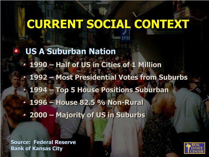 CURRENT SOCIAL CONTEXT