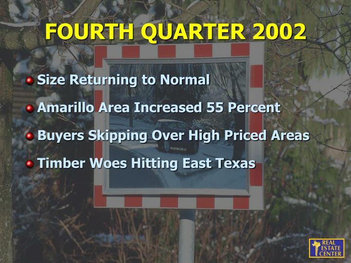 FOURTH QUARTER 2002
