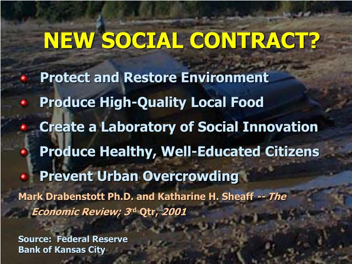 NEW SOCIAL CONTRACT?