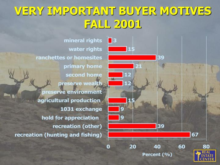VERY IMPORTANT BUYER MOTIVES