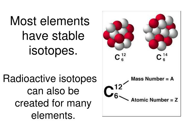 Most elements have stable isotopes.